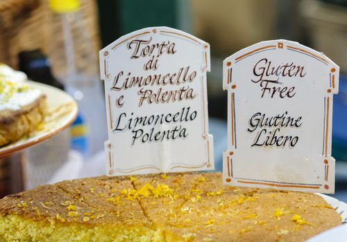 Gluten free limoncello polenta display