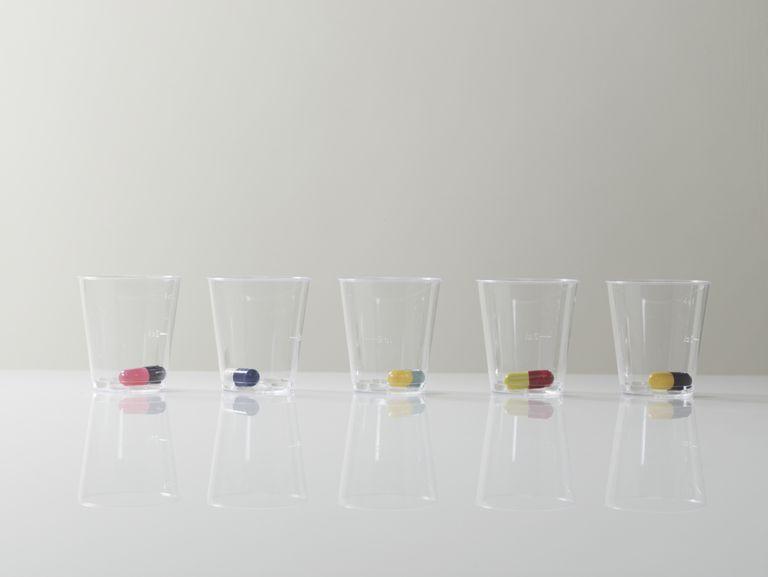 Capsules in cups