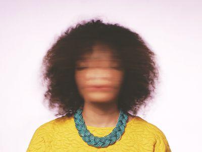 Dizzy woman portrait