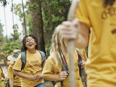 Children smiling at summer camp