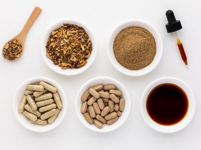 Cramp bark capsules, tablets, extract, powder, and dried cut bark