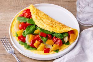 Healthy veggie omelet