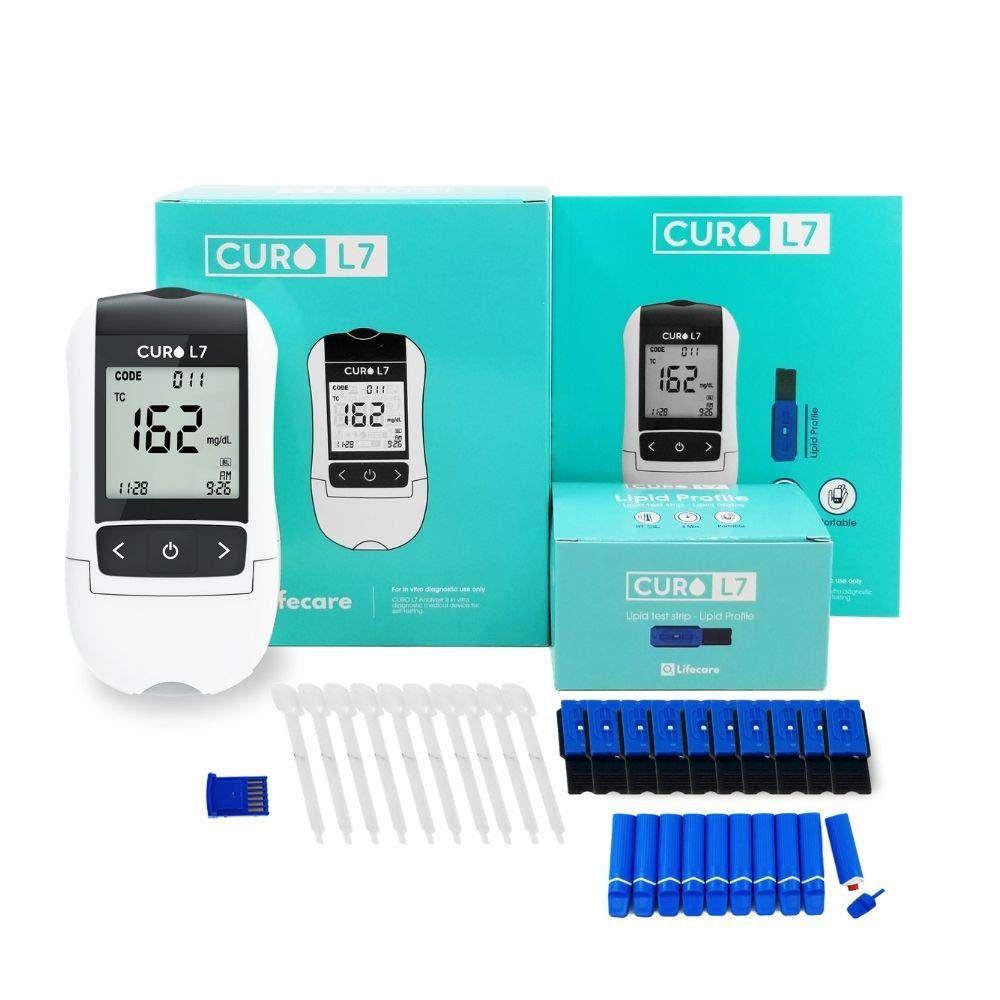CURO L7 Professional Grade Lipid Blood Cholesterol Test Home Kit