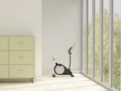 loft apartment with exercise bike