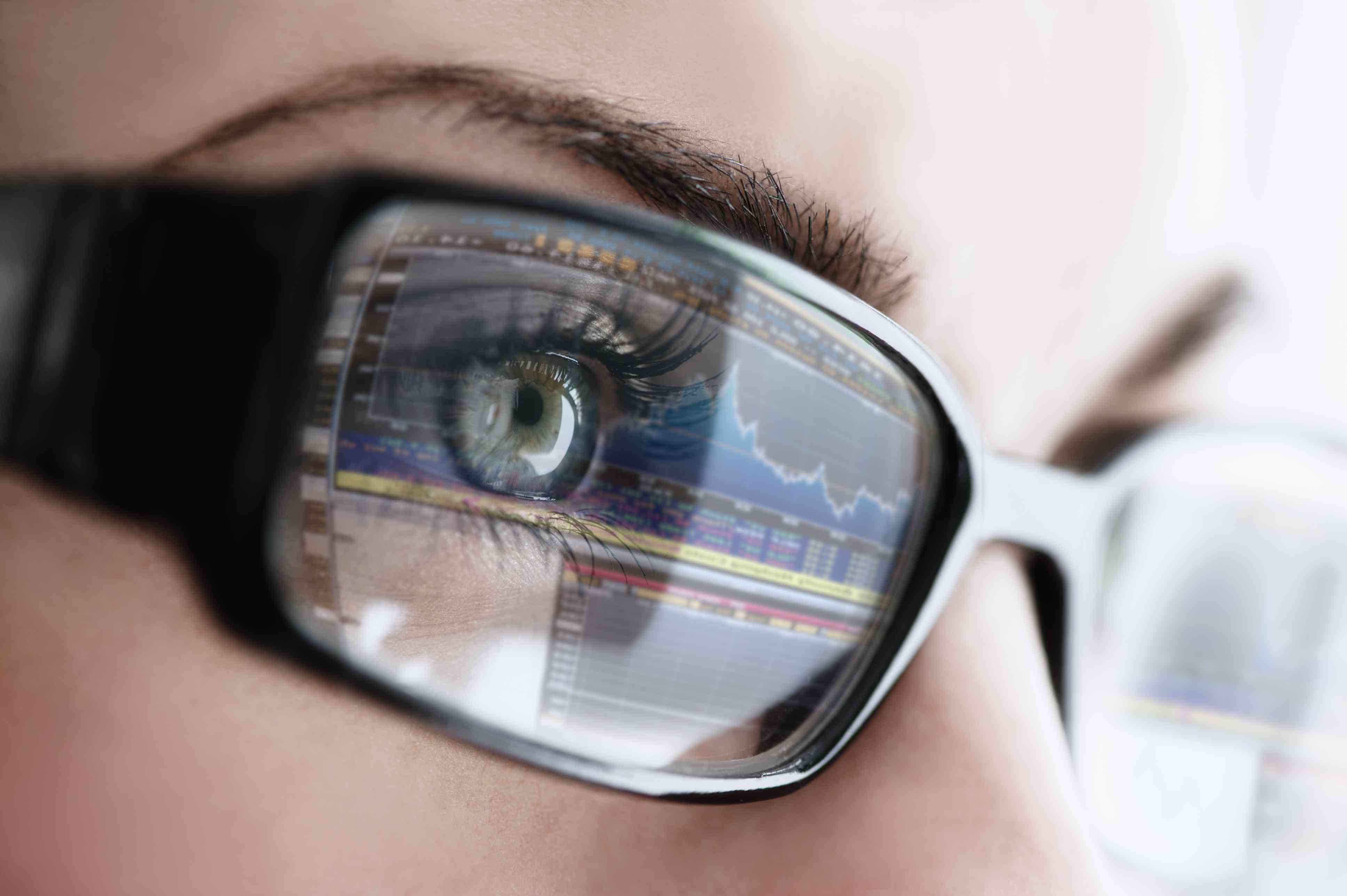 Glasses with computer reflection