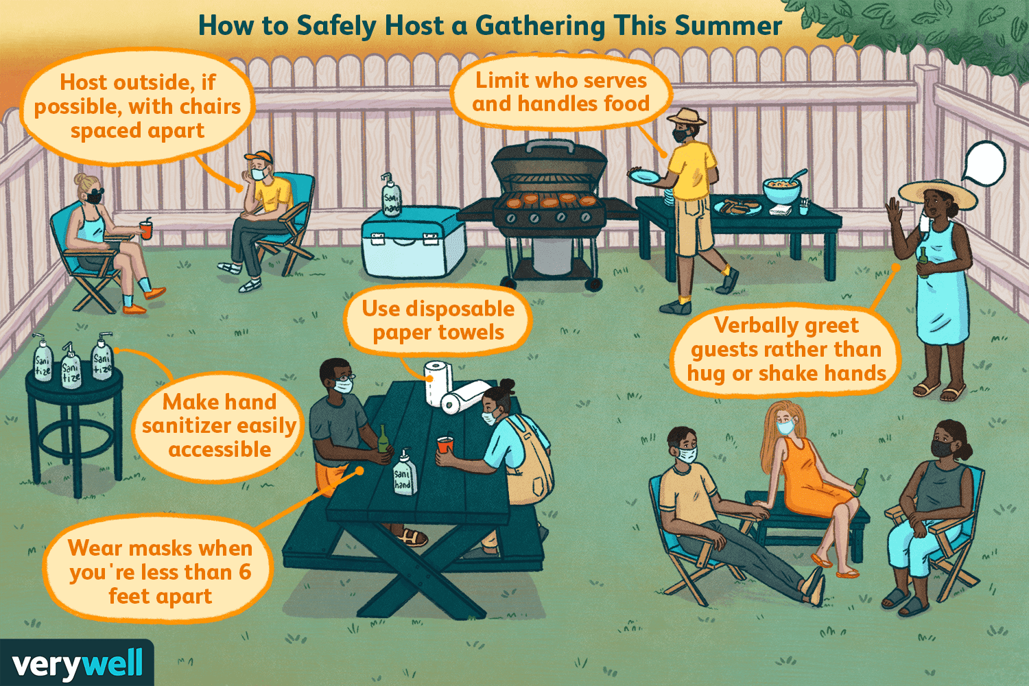 how to safely host an outdoor gathering