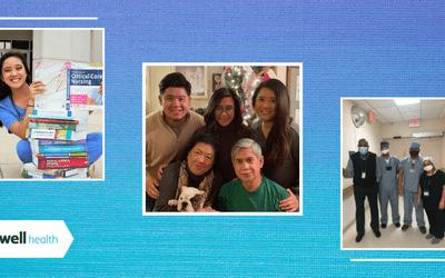Photos of three Filipino American nurses.