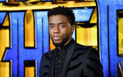 Chadwick Boseman at the European Premiere of Black Panter.