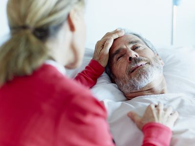 Male stroke patient with his wife