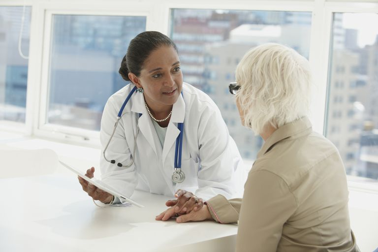 Doctor Explaining results to an older patient