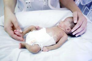 Nurse and premature baby