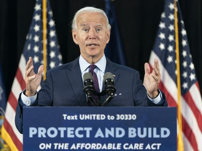 Joe Biden speaking about health care reform at a campaign event.