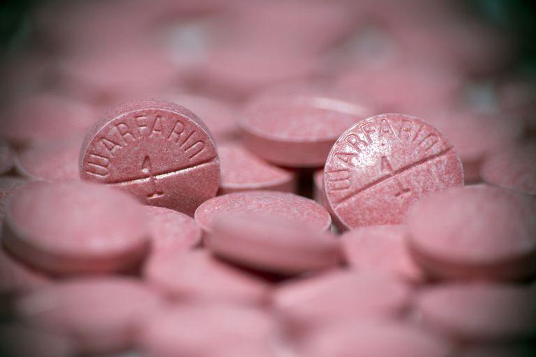 Warfarin pills upclose