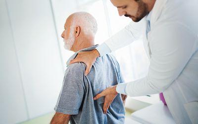 Lower back pain medical examination.
