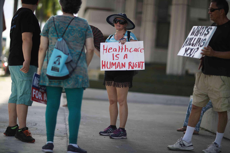 'Medicare For All' Rallies Held Across U.S. Ahead Of Senate Health Care Vote