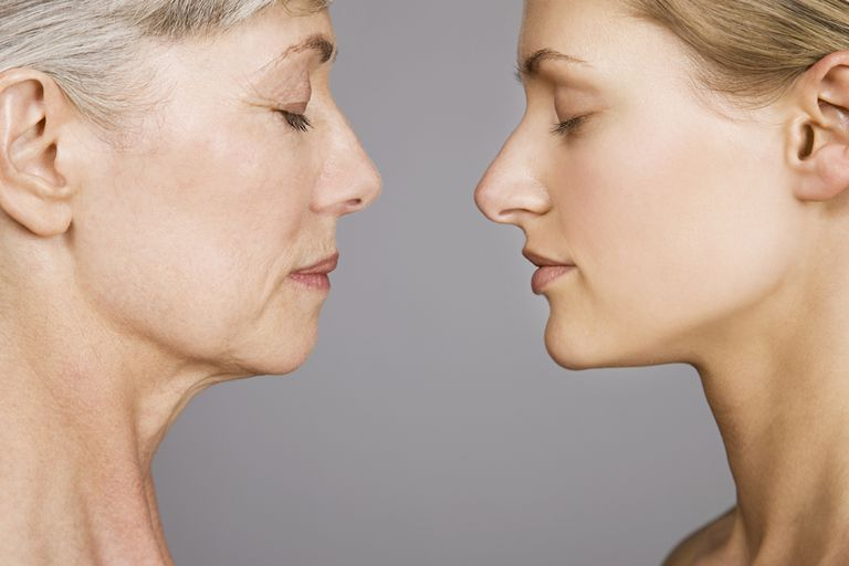 Young and senior women face to face