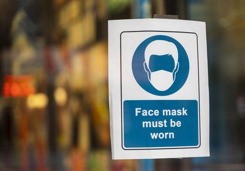 face mask signage