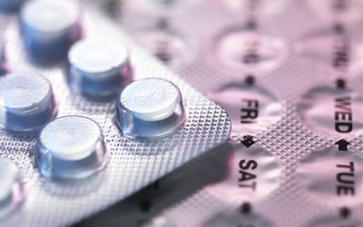 Birth control pill blister pack