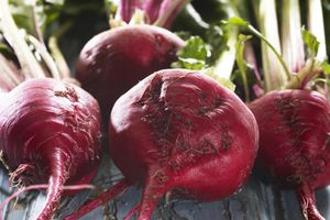 Raw Beets in a Group