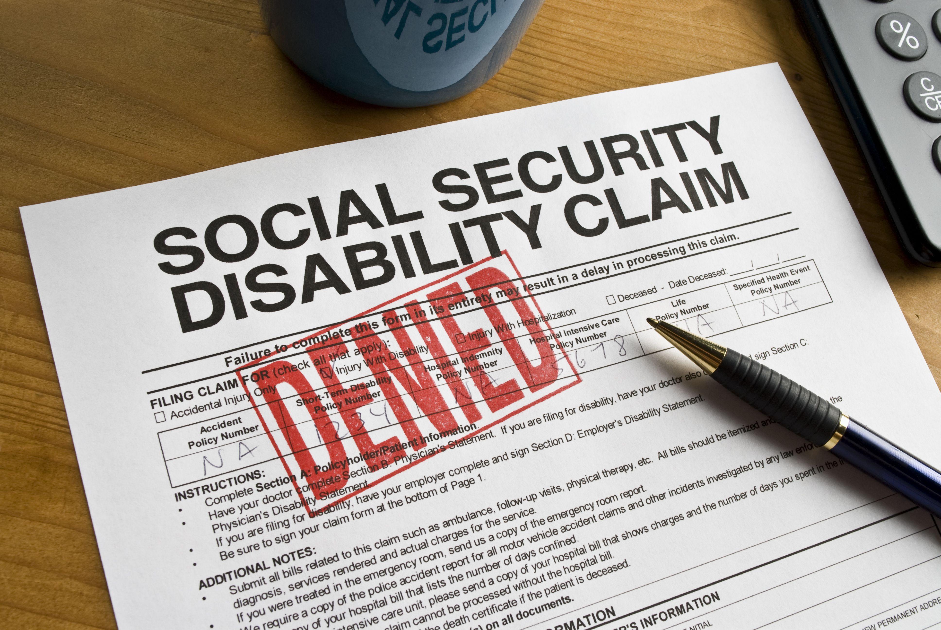 Social security denial