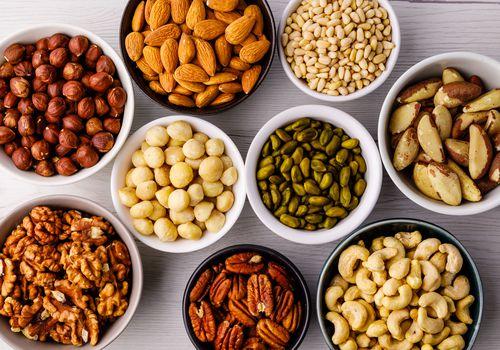 Bowls of various nuts