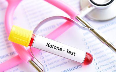 Blood sample tube for ketone test