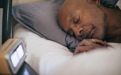 Man sleeping in REM stage