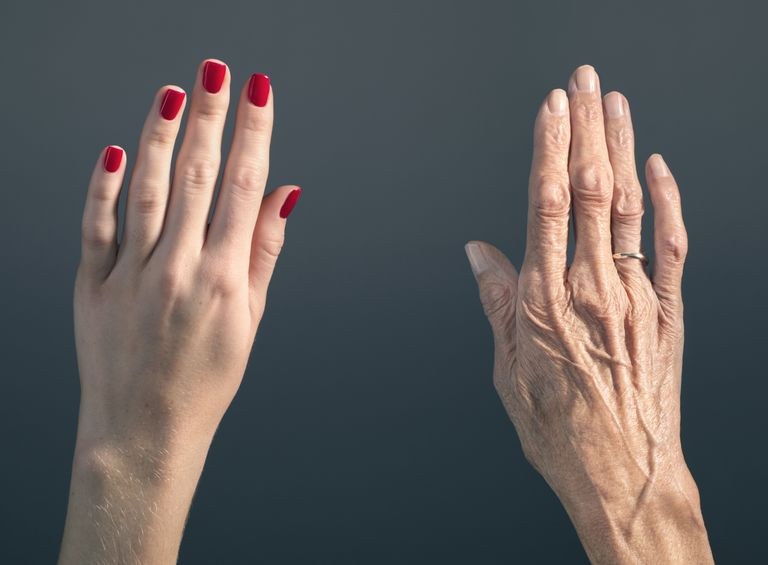 Young and old hands, side by side