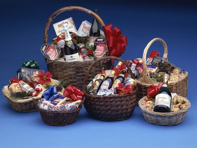 A variety of gift basket ideas