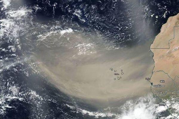 NASA-NOAA's Suomi NPP satellite captures the Saharan dust plume movement