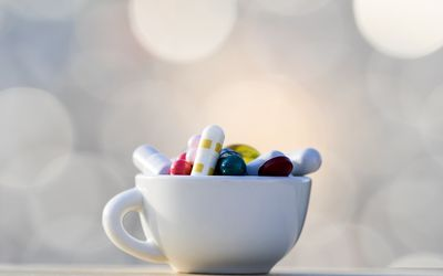 Cup of antidepressants
