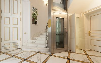 Elevator in luxury villa