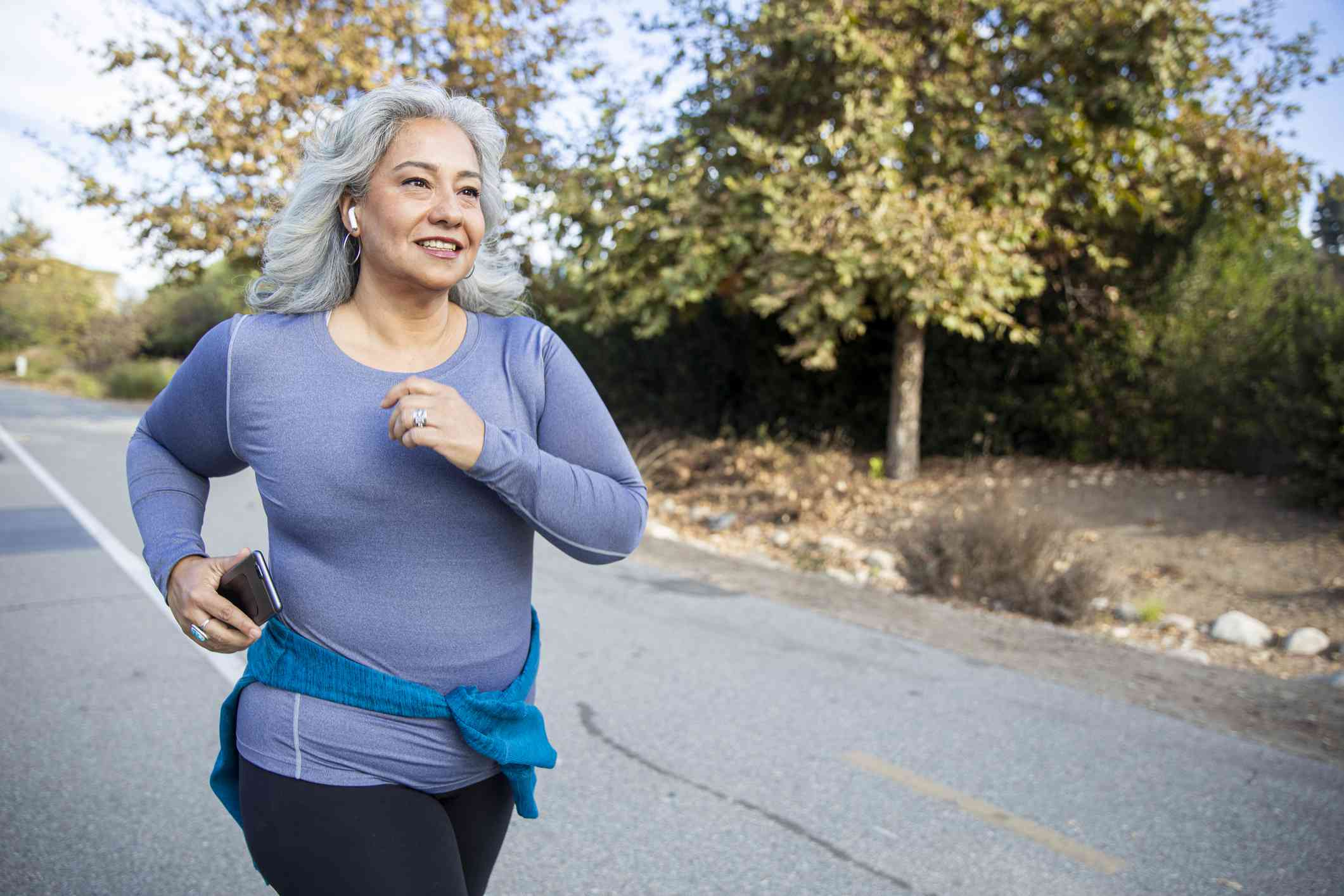 Mexican Woman Jogging
