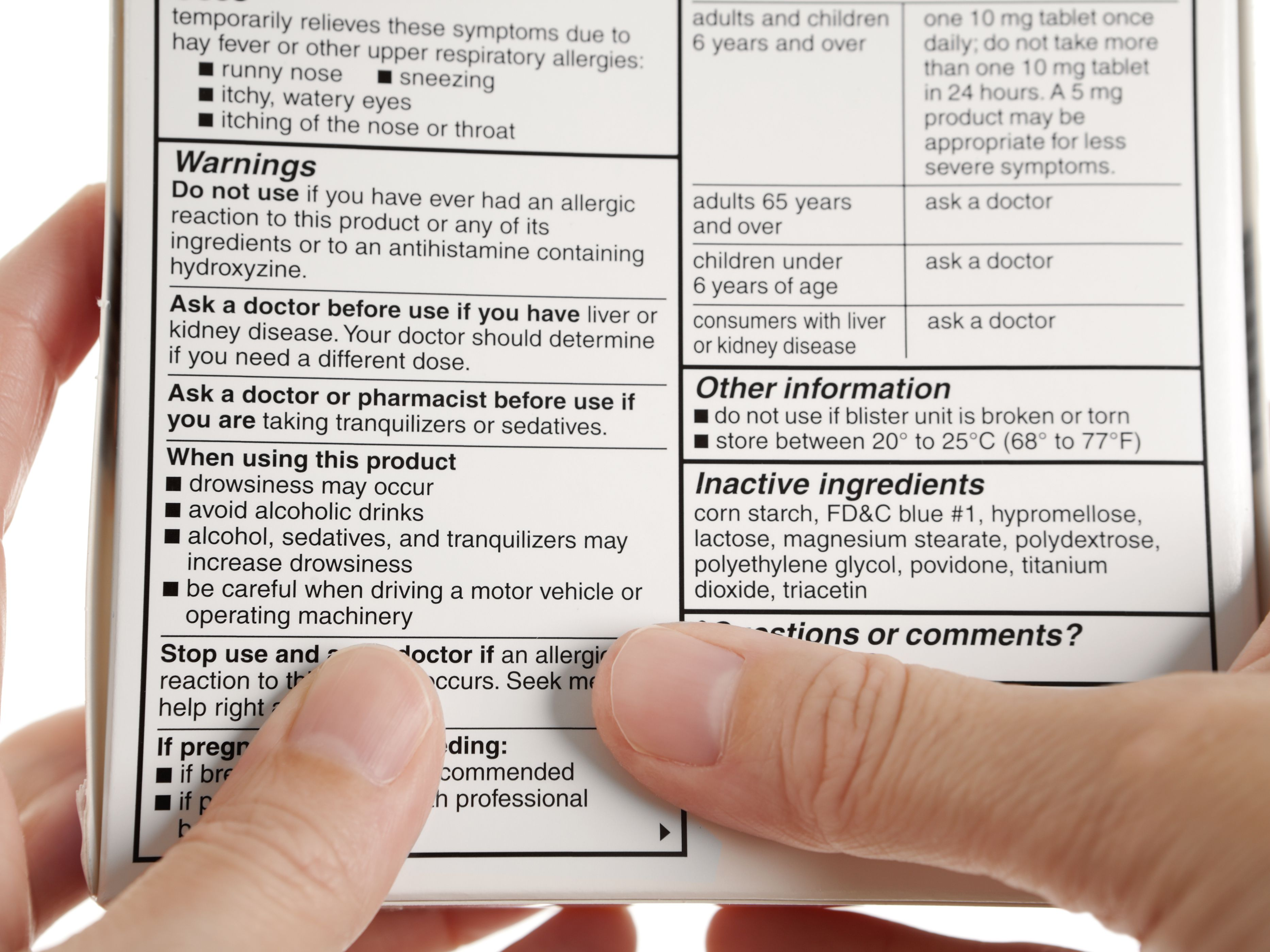 Allegra Over-The-Counter Drug Information
