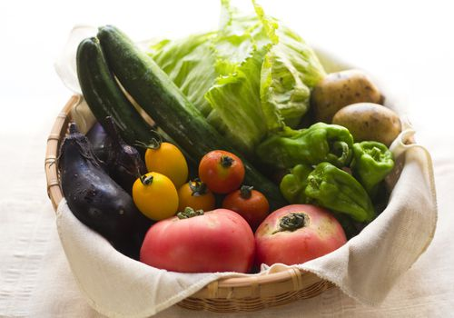 Summer Vegetables In Basket