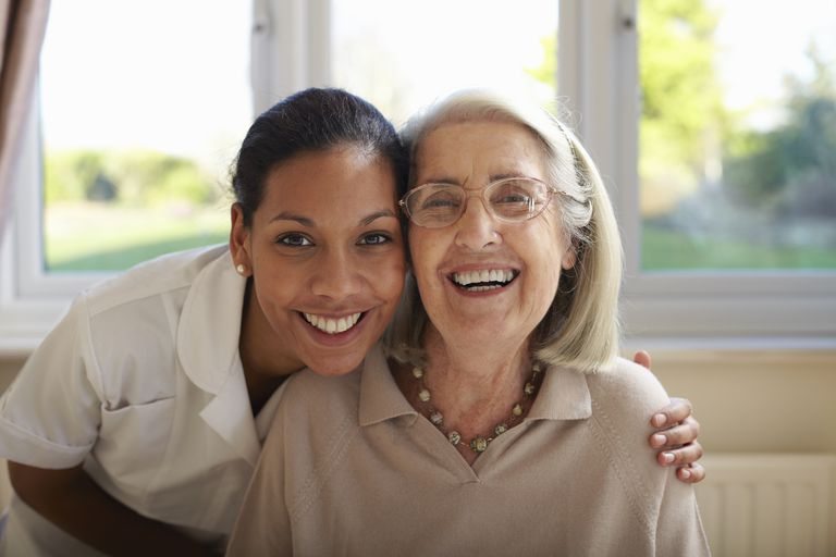 A Caregiver's Hug Ca Brighten Her Day