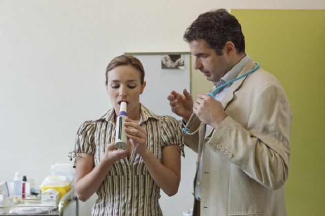 Breathing, Spirometry In A Woman