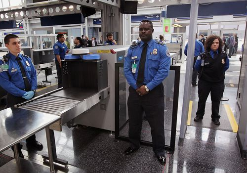 Airport security officers.