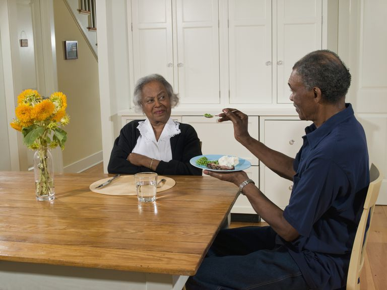 older African American woman refuses to eat