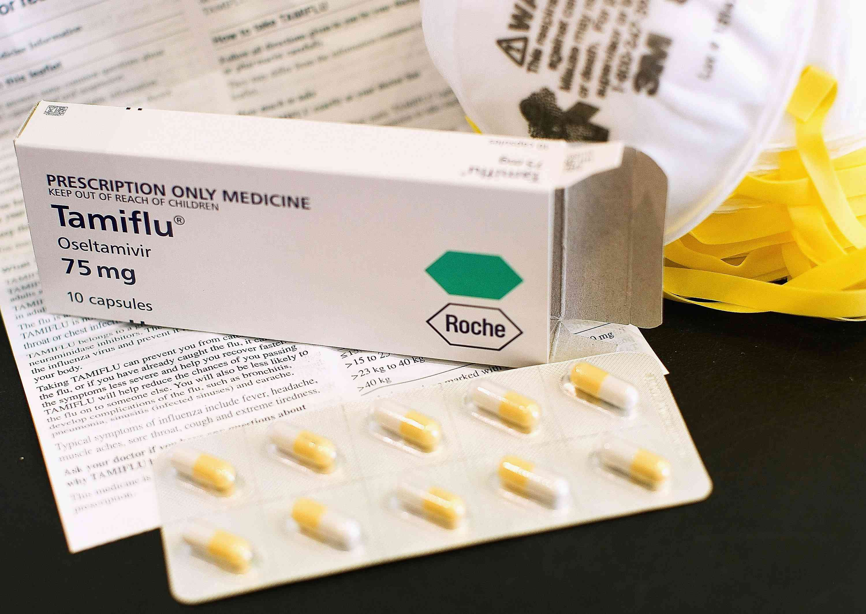Tamiflu box and pills