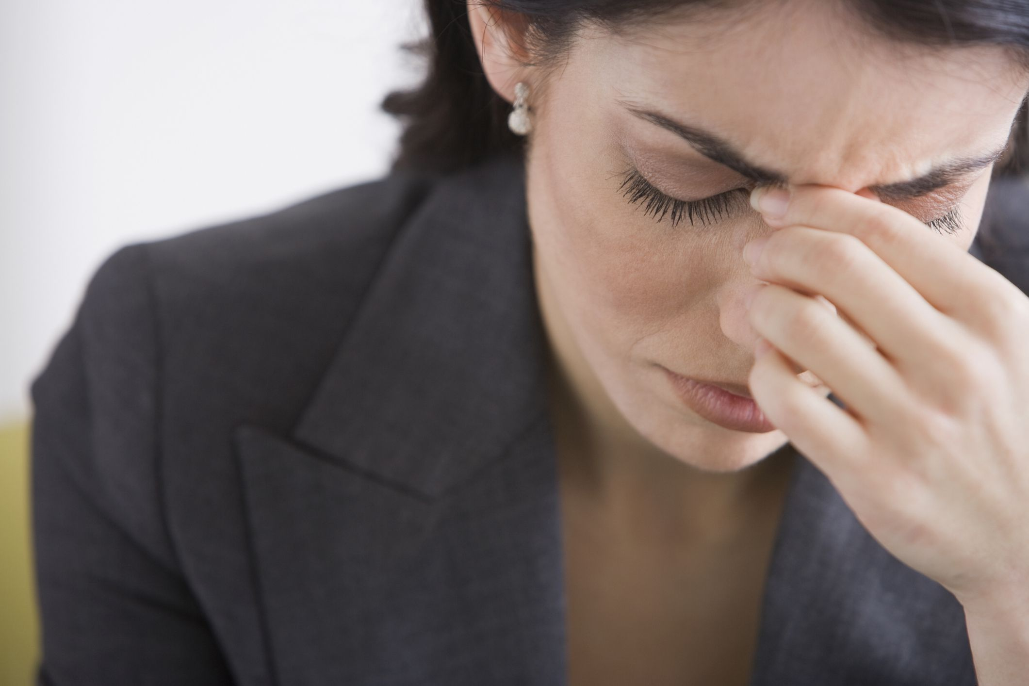 woman not feeling well
