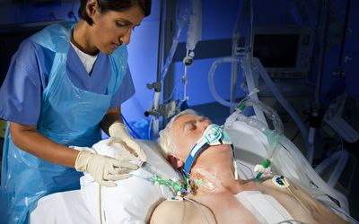 Administering drugs through a central line.