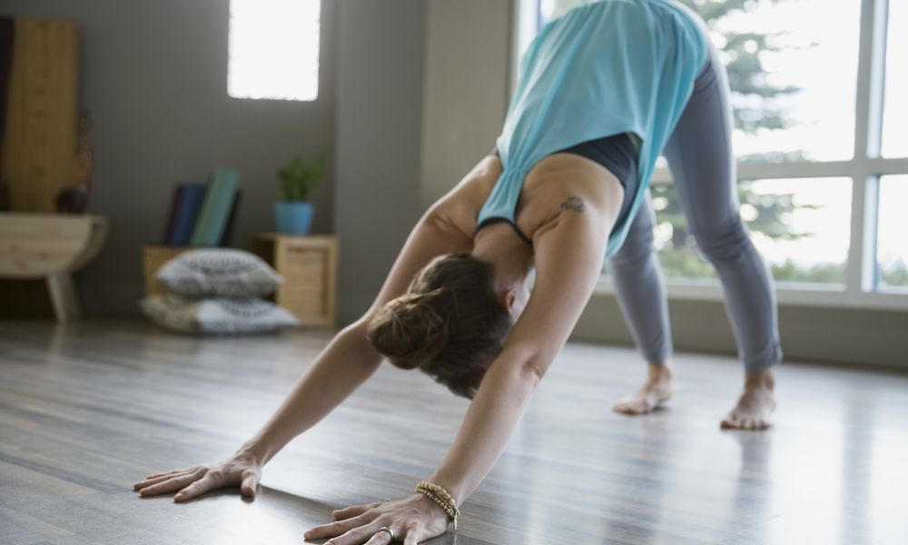 Woman doing downward dog