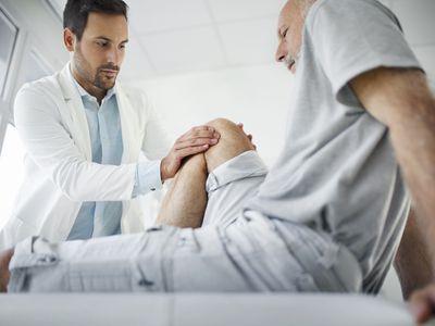 Knee examination.