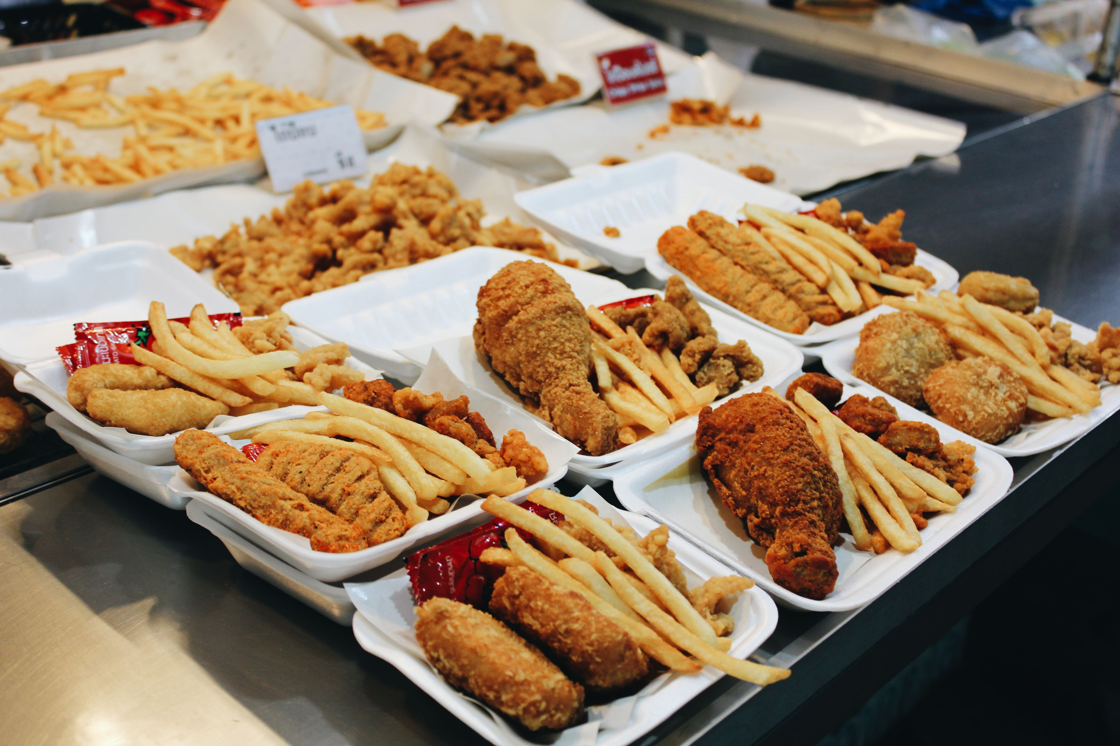 variety of fried foods