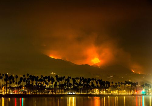 Wildfire smoke in Santa Barbara