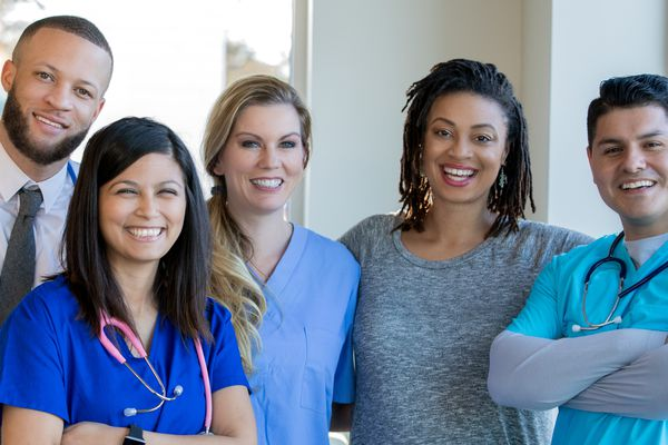 Diverse health care team