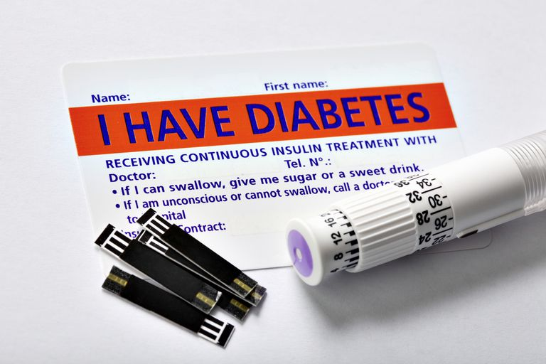 Diabetes test strips and medical alert card