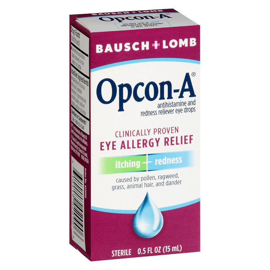 Bausch & Lomb Allergy Eye Drops for Itch & Redness Relief