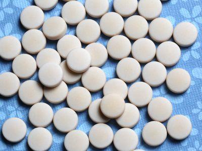 White colored oral Prescription Pills - stock photo